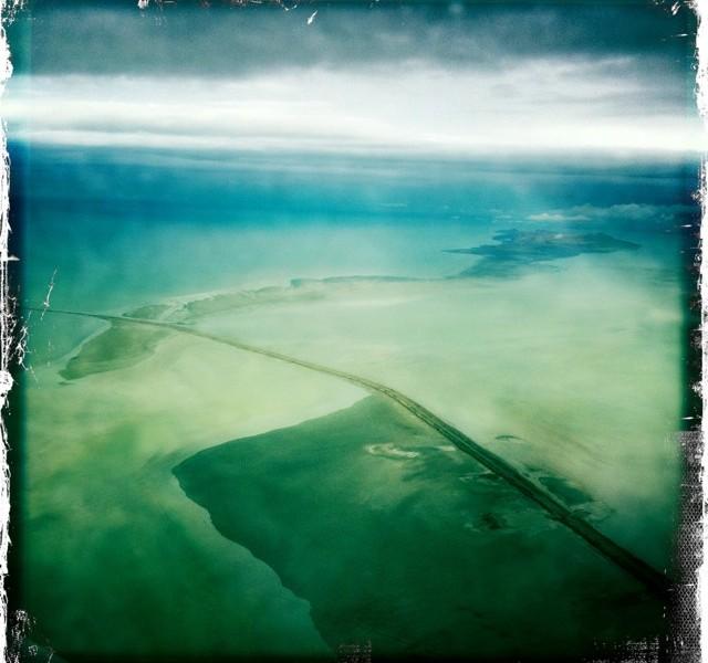 salt lake city utah from an airplane