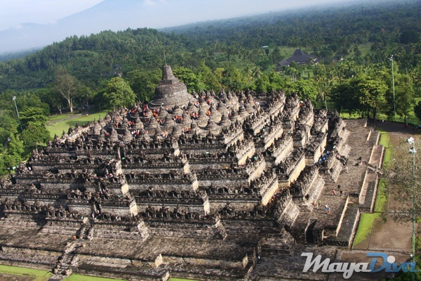 Borobudor Buddhist Temple in Java, Indonesia
