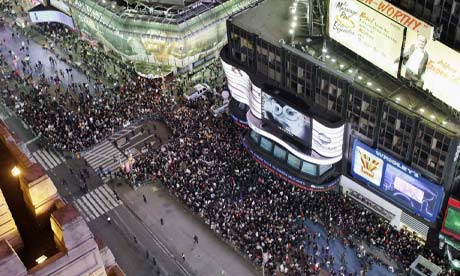 Times Square during Occupy Wall Street