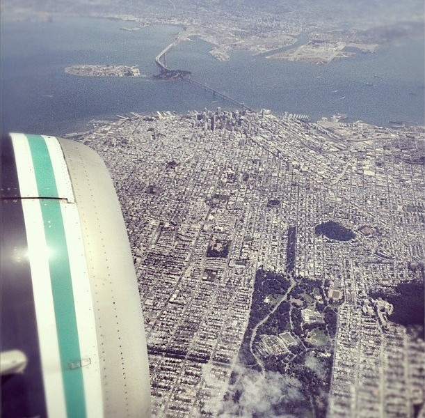 sanfranciscofromanairplanewindow