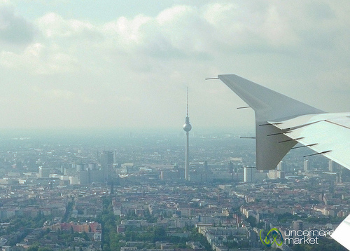 Berlin from an airplane window