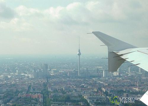 Berlin from an airplane window