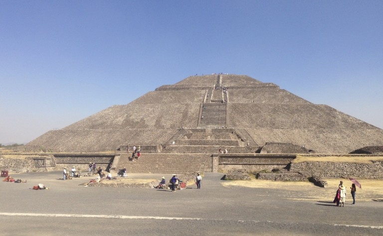 The 200-plus foot Pyramid of the Sun, one of the tallest pyramids in the world.
