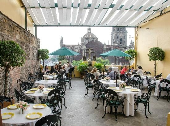 The terrace at La Casa De Las Sirenas, a nice break from the bustling Zocalo. Image care of Tripadvisor.