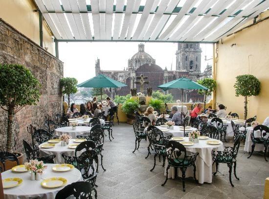 The terrace at La Casa De Las Sirenas, a nice break from the bustling Zocalo. Image care of Tripadvisor.