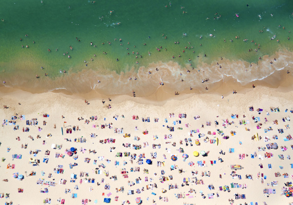 Coogee Beach, near Sydney, Australia. Image by Gray Malin, via Flavorwire.