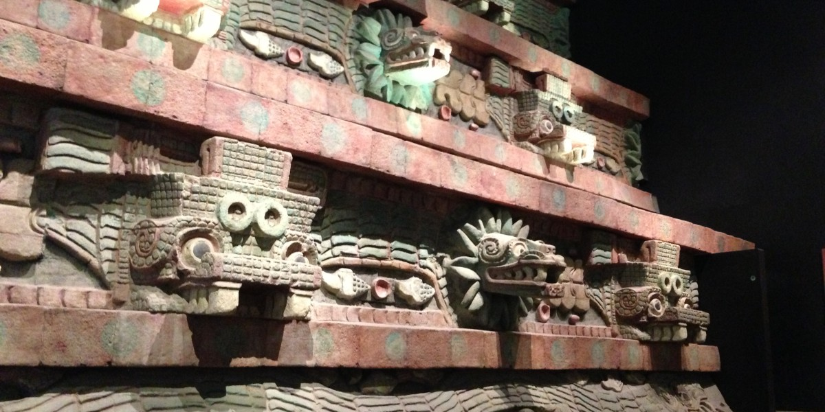 Replicas from the ruins of Teotihuacan at the Museum of Anthropology in Mexico City.