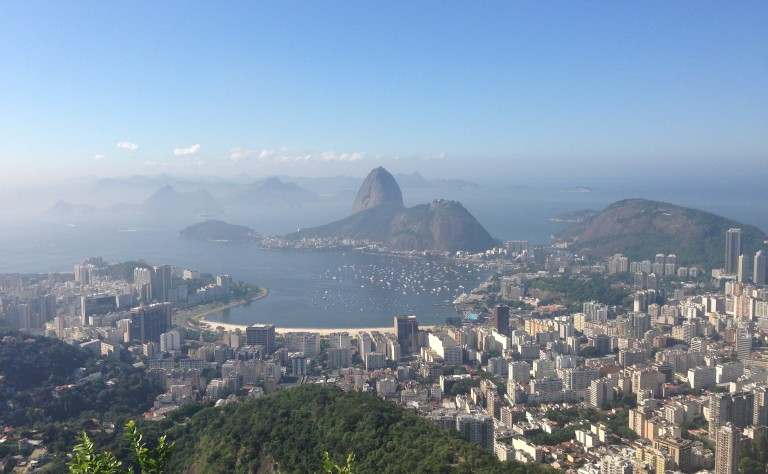 Sugarloaf mountain from Mirante Dona Marta