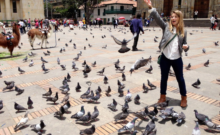 Sure, the surrounding area may feel a little sketchy, but I loved feeding the pigeons and petting the llamas in Plaza Bolivar.
